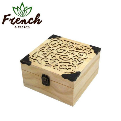 Wooden Box For Essential Oils | French Lotus