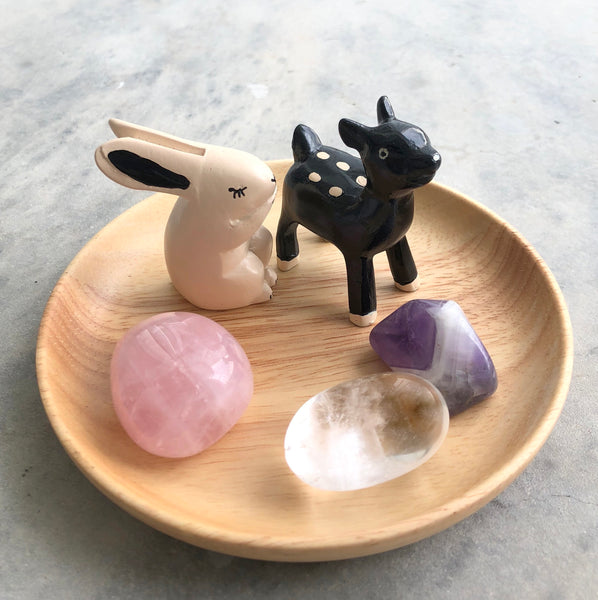 Little Round Mini Pebble Set: Bunny + Deer