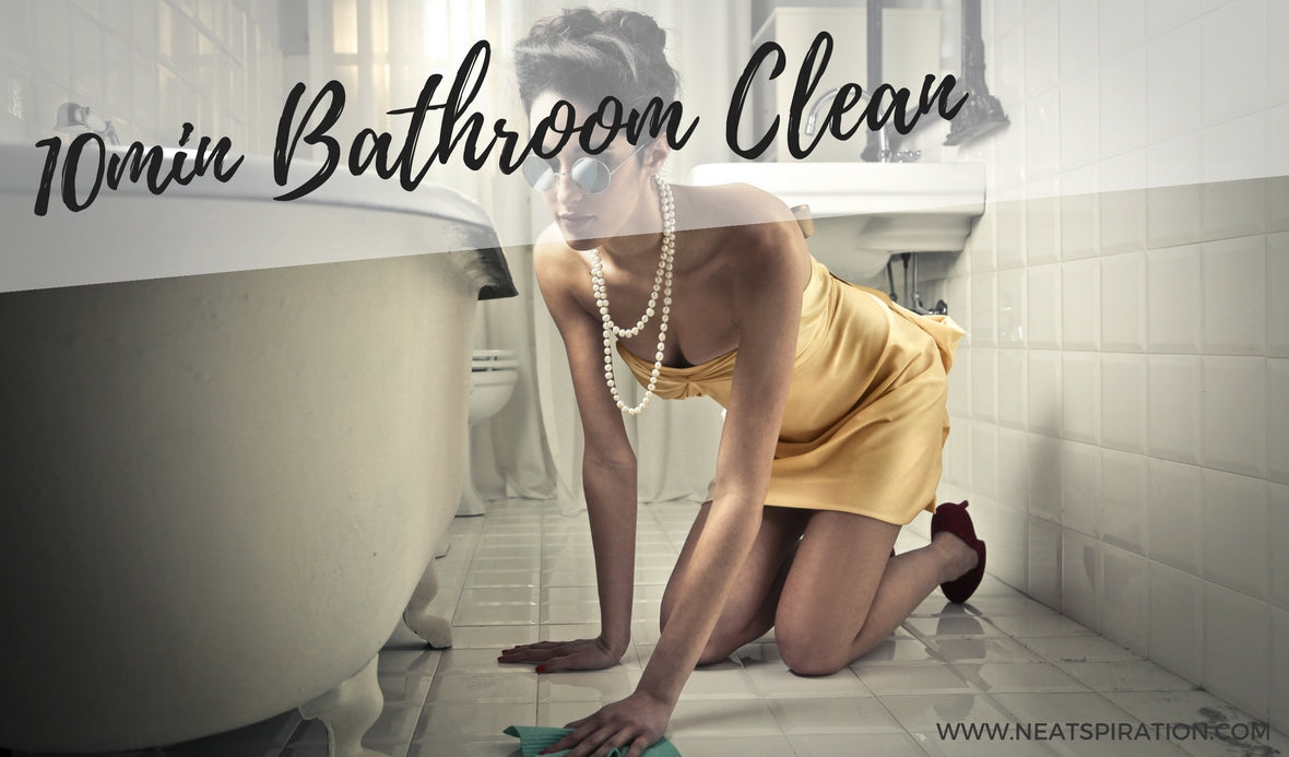Clean your bathroom in 10 minutes!