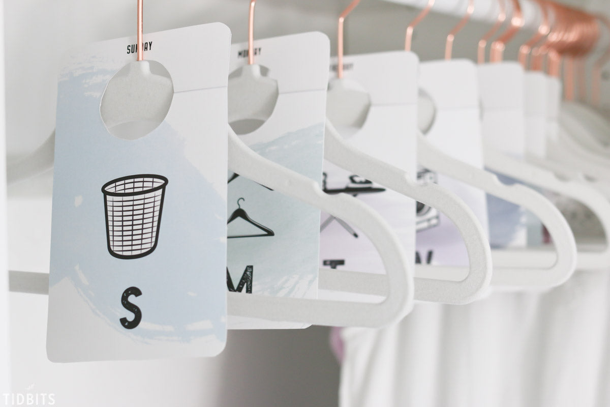 How to Organise your Clothes for the Week