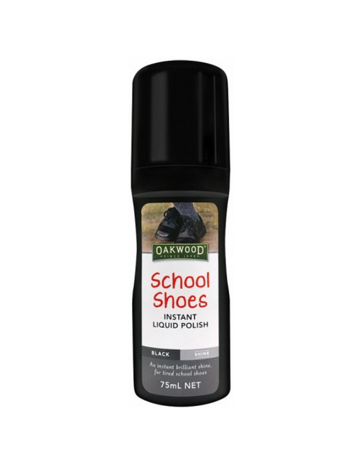 Oakwood - School Shoes Instant Liquid Polish Black 75ml