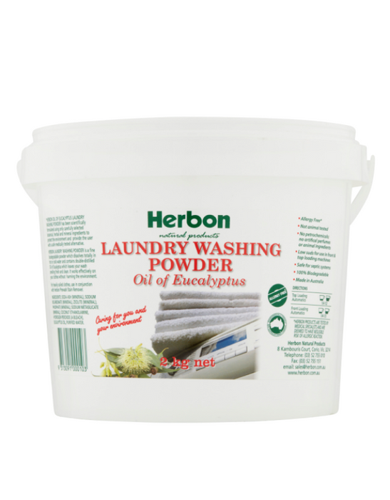 Herbon - Laundry Washing Powder Oil Of Eucalyptus 2kg