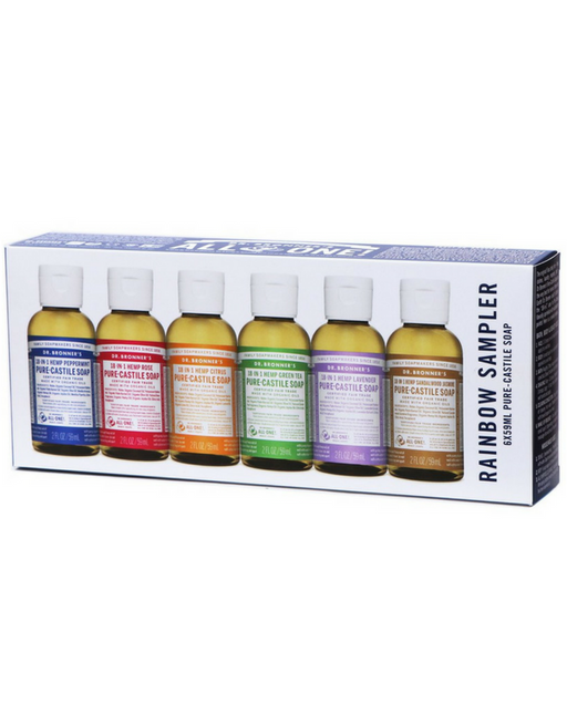 Dr. Bronner's Pure-Castile Liquid Soap - Rainbow Sampler
