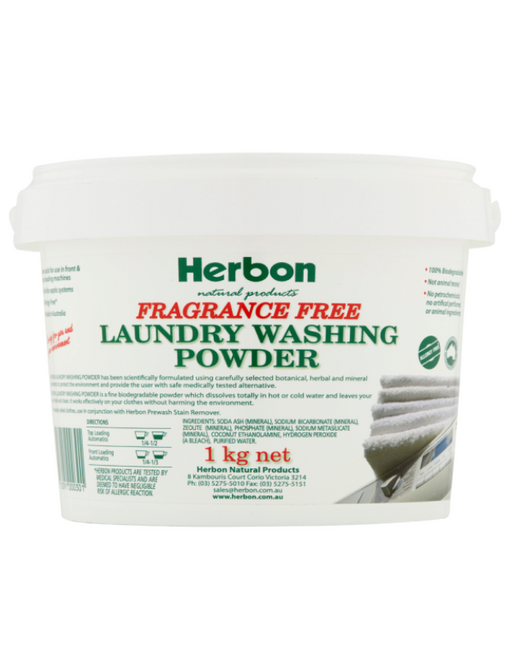 Herbon - Laundry Washing Powder Fragrance Free 1kg