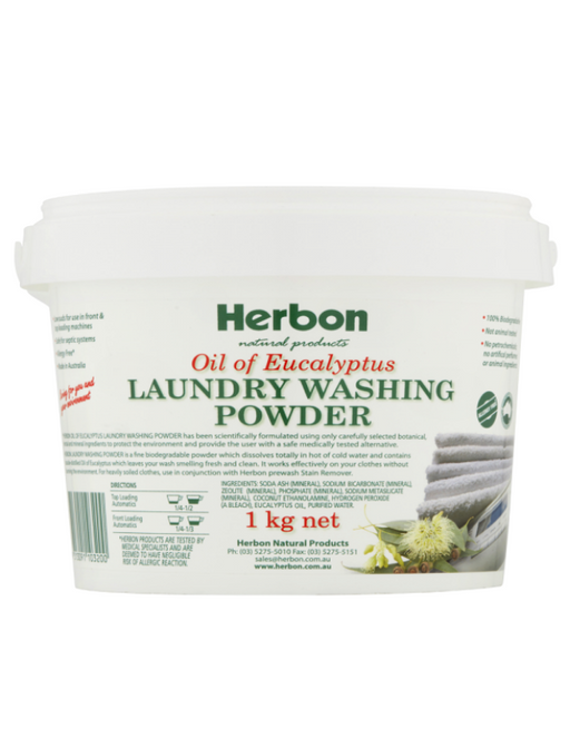 Herbon - Laundry Washing Powder Oil Of Eucalyptus 1kg