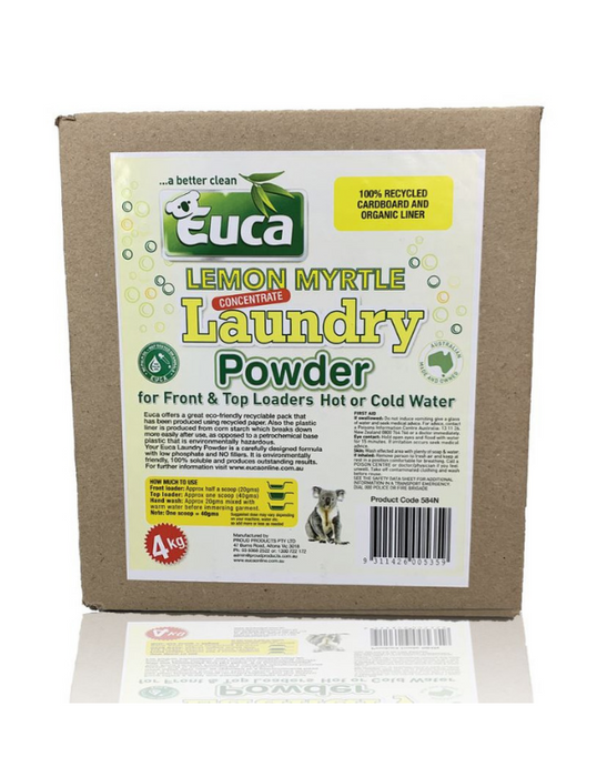 Euca - Premium Laundry Powder Concentrate Detergent Lemon Myrtle 4kg