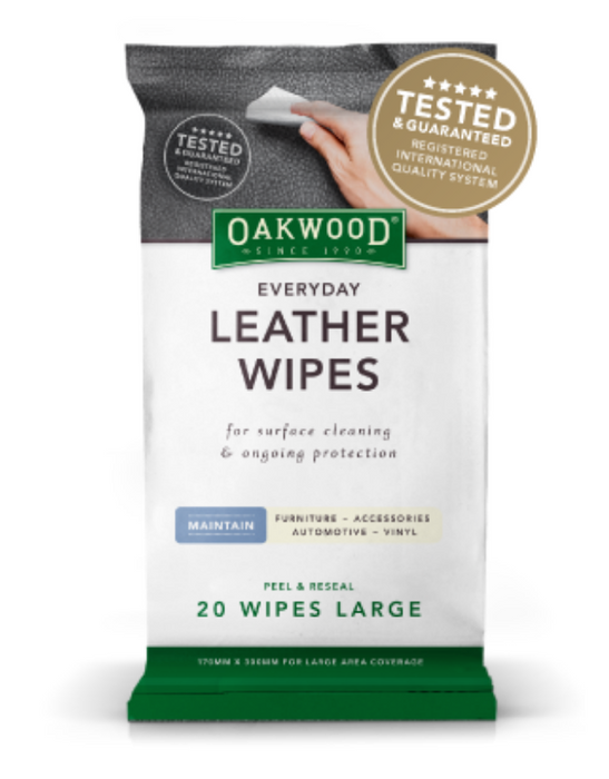 Oakwood - Everyday Leather Wipes Large 20 pack
