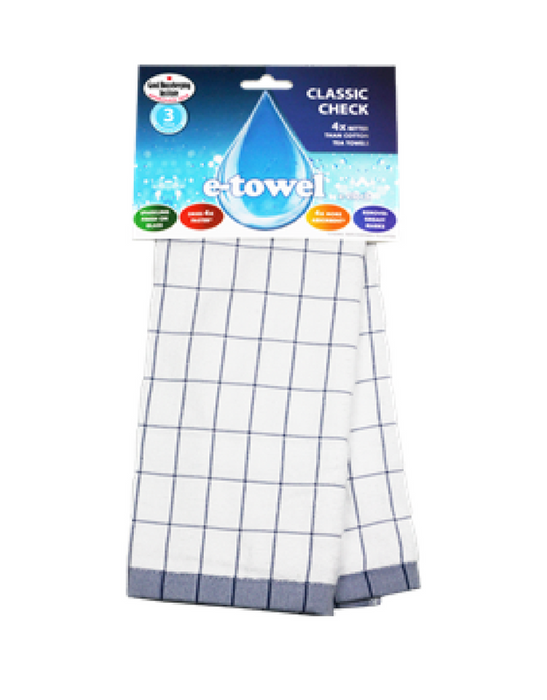 e-cloth High Performance Tea Towel Blue - Single Pack