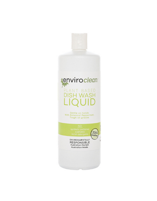 EnviroClean - Plant Based Dish Wash Liquid (botanical peppermint) Liquid 1L