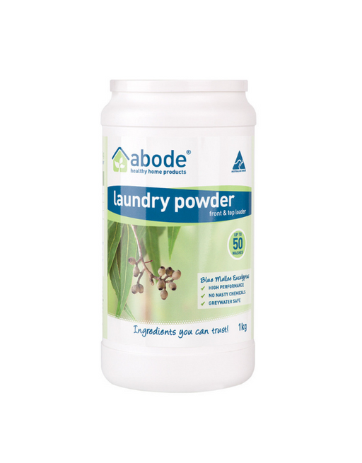 Abode - Laundry Powder (Front Top) Blue Mallee Eucalyptus 1kg