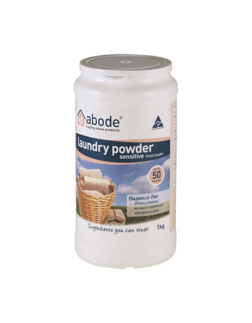 Abode - Laundry Powder (Front & Top Loader) Zero 1kg