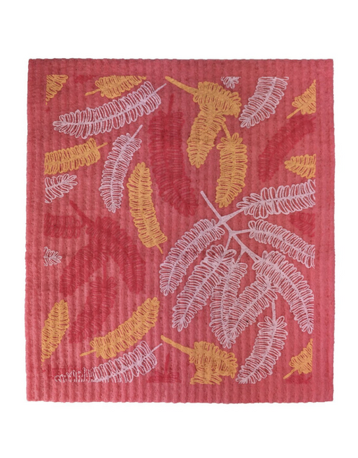 Retro Kitchen - Swedish Dishcloth Poinciana Leaves