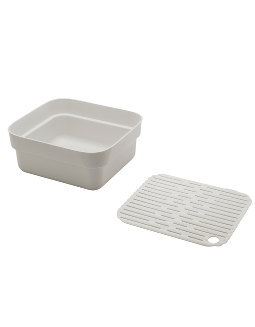 Brabantia Washing Up Bowl with Drying Tray Light Grey