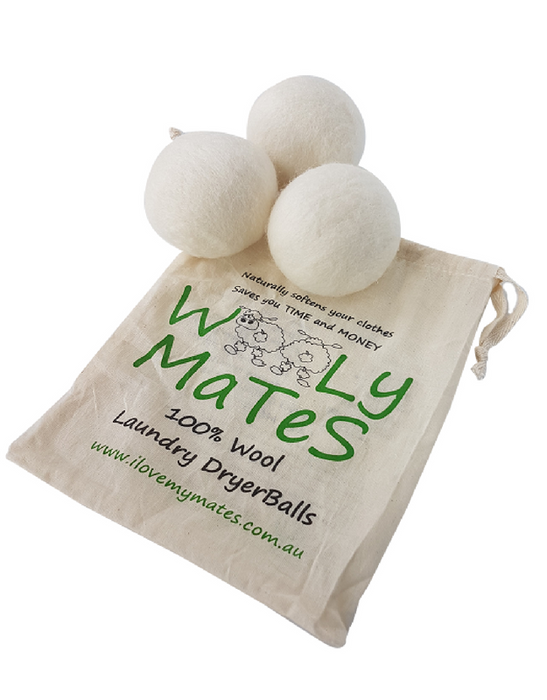 Wooly Mates – Wool Laundry Tumble Dryer Balls (3 pack)