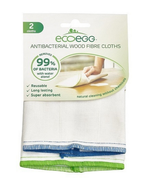 Ecoegg - Antibacterial Wood Fibre Cloths 2 Pack