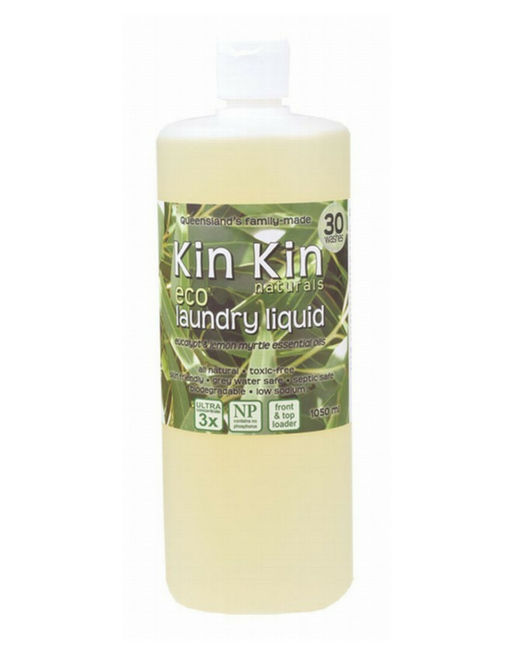 Kin Kin Naturals - Laundry Liquid Eucalyptus and Lemon Myrtle 1050ml