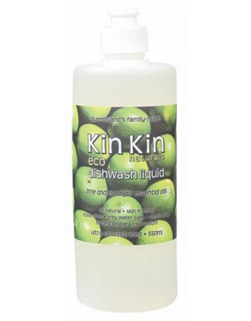 Kin Kin Naturals - Dishwash Liquid (ultra Conc.) Lime & Eucalypt 550ml