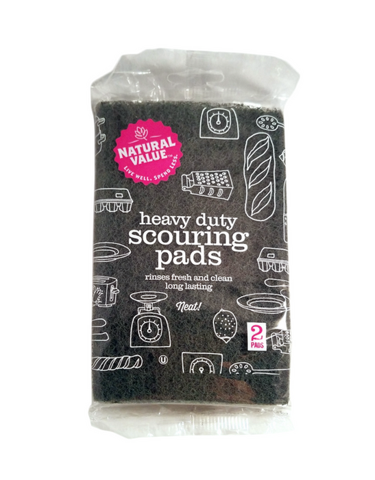 Natural Value - Heavy Duty Scouring Pads 2 Pack