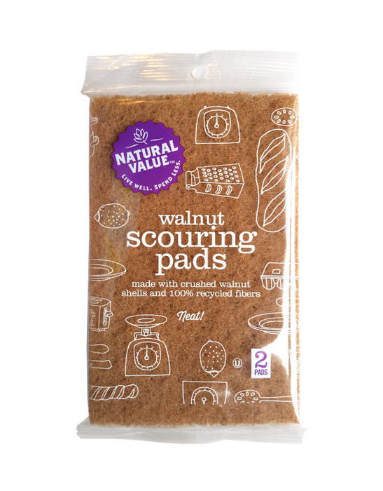 Natural Value - Walnut Scouring Pads 2 Pack