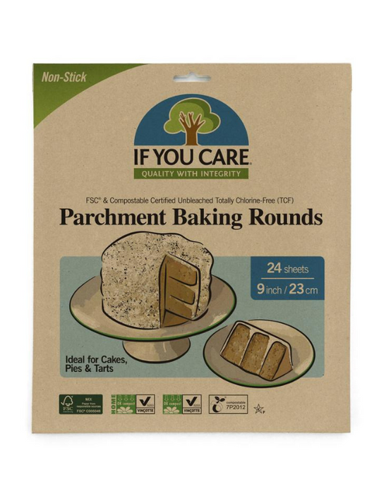 If You Care - Parchment Baking Rounds 24 Sheets