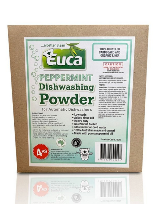 Euca - Peppermint Dish Washing Powder Concentrate 4kg