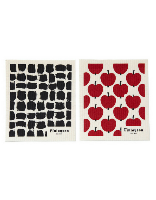 Finlayson - Swedish Kitchen Cloth 2 Pack Omppu and Mukula