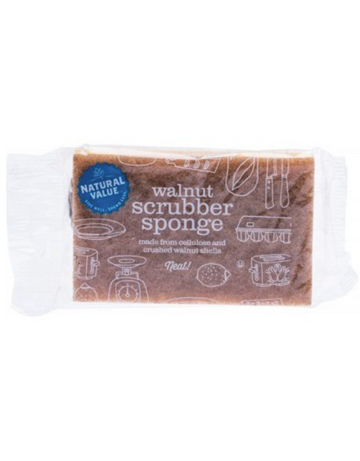 Natural Value - Walnut Scrubber Sponge 1 Pack
