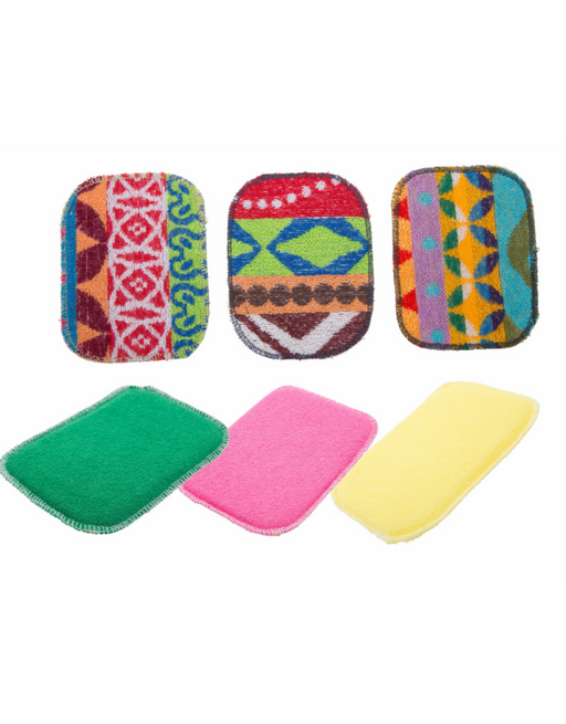 Euroscrubby - 2pc Scrubby & Sponge Set Assorted Designs