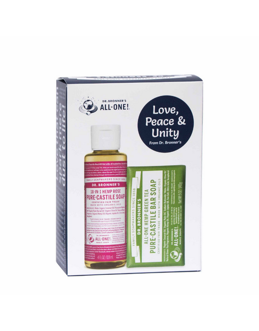 Dr Bronner's - Gift Pack Green Tea & Rose