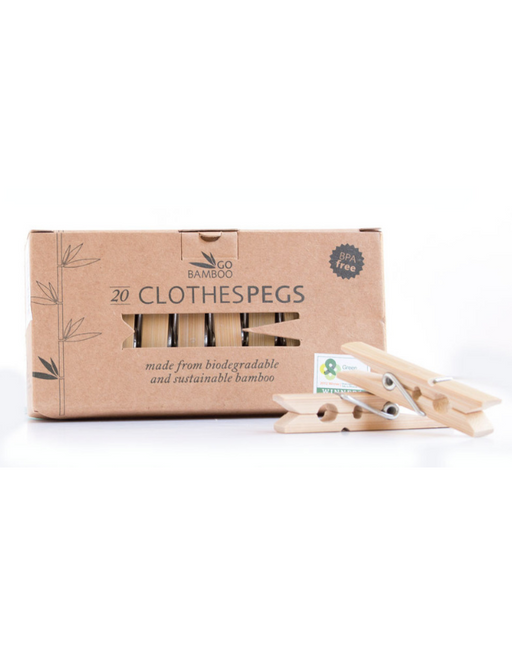 Go Bamboo Biodegradable Clothes Pegs