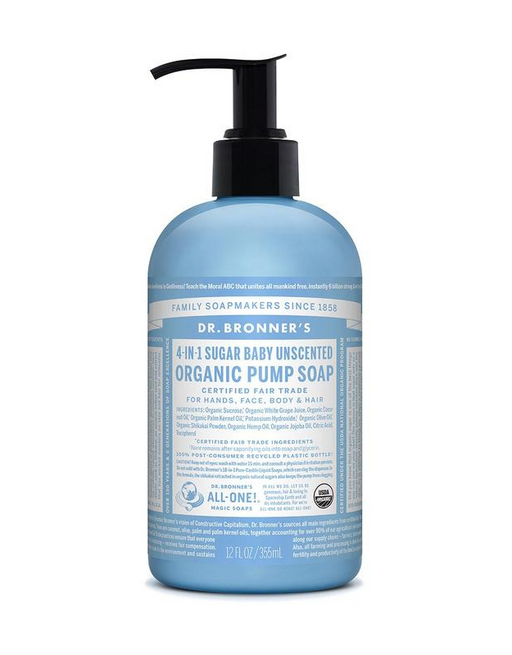 Dr. Bronner's - Organic Pump Soap - Baby Unscented 355ml