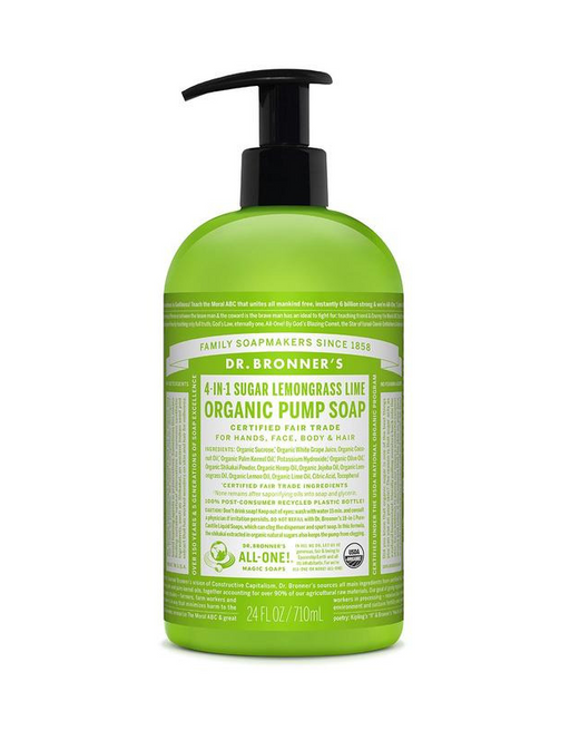 Dr. Bronner's - Organic Pump Soap - Lemongrass Lime 355ml