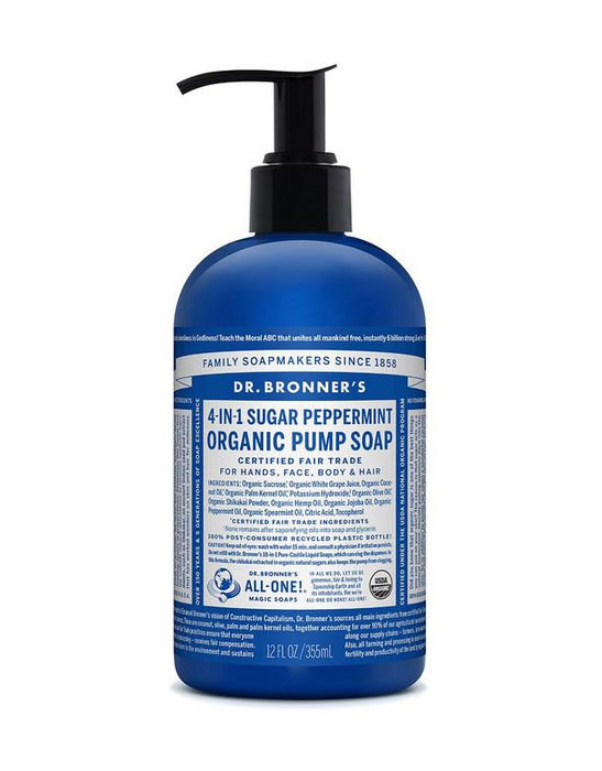 Dr. Bronner's - Organic Pump Soap - Peppermint 355ml
