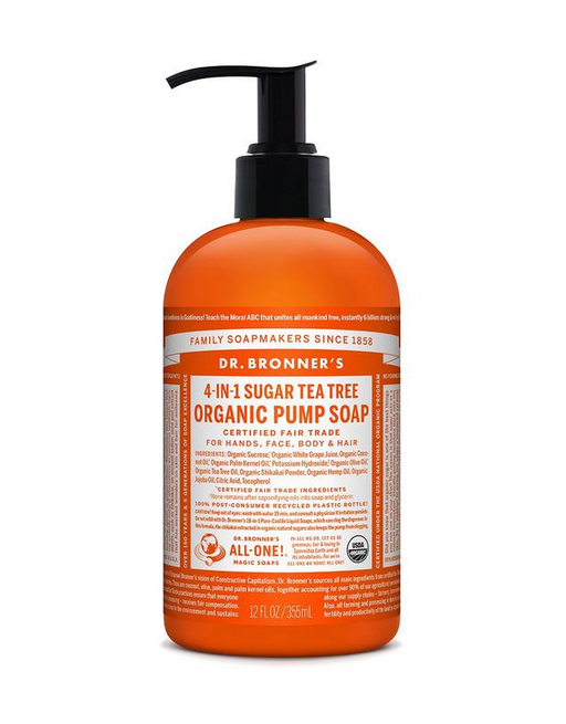 Dr. Bronner's - Organic Pump Soap - Tea Tree 355ml