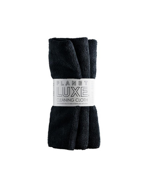 Planet Luxe - Cleaning Cloth, Plush, Black 2 Pack