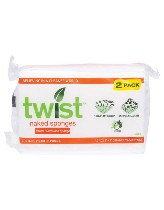 Twist - Plant-Based Naked Sponge (2 Pack)