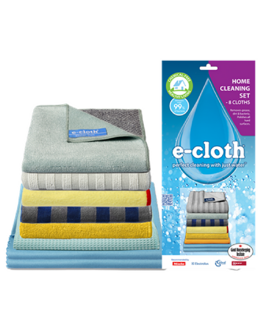 e-cloth Home Cleaning Set 8 Cloths - Multi Pack