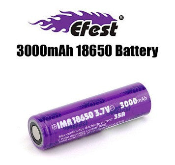 Efest IMR 18650 Rechargeable 3000mAh/35A Battery