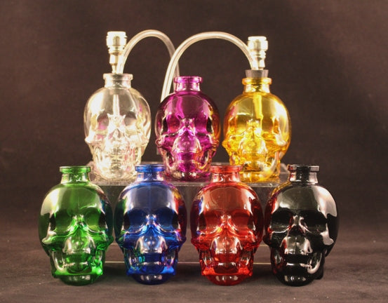 Glass Skull Mini-Water Hookah Pipe