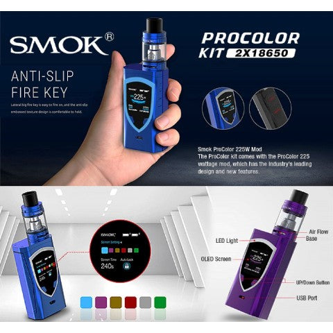 SMOK ProColor 225W TC Kit w. TFV8 Big Baby Tank