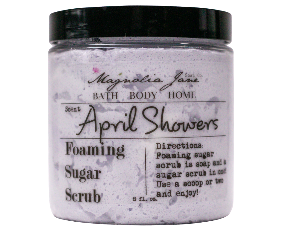 April Showers Foaming Sugar Scrub