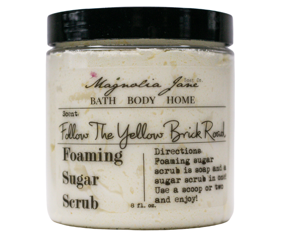 Follow The Yellow Brick Road Foaming Sugar Scrub