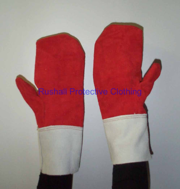 Reversible Heat Resistant Leather Mitts