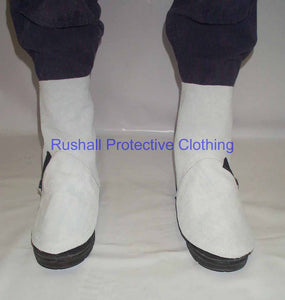 Chrome Leather Gaiters 9 Inch