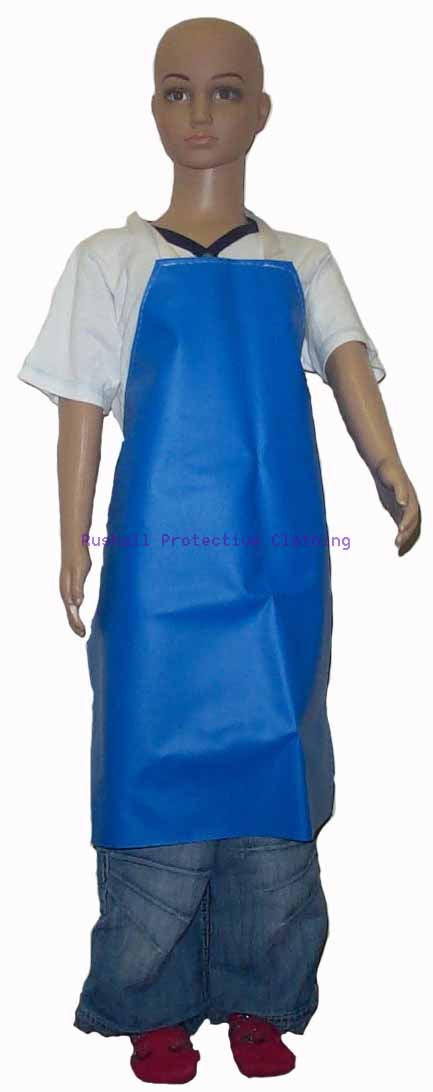 Infant's Blue Heavyweight PVC Apron