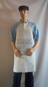 Chrome Leather Bib Apron With 12x12 Inch Riveted Patch