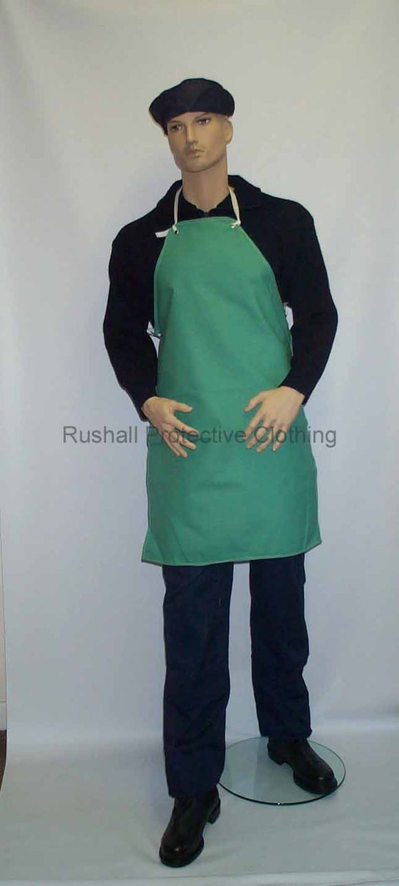 Green Canvas Bib Apron 36x24 Inch