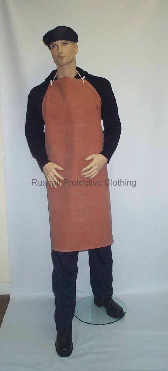 Red Heavyweight Rubber Apron 42x36 Inch