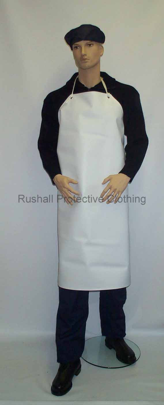 Heavyweight White PVC Apron 42x36 Inch
