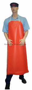 Orange Heavyweight PVC Apron 48x36 Inch